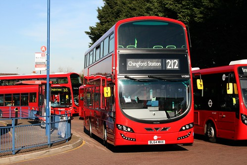 Tower Transit VH38111 on Route 212, Chingford Station