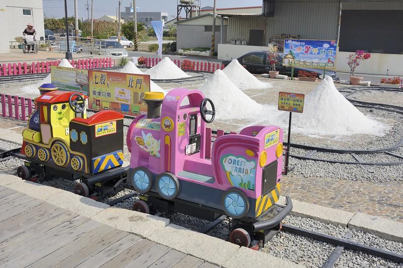 台灣鹽博物館的鹽山小火車模型