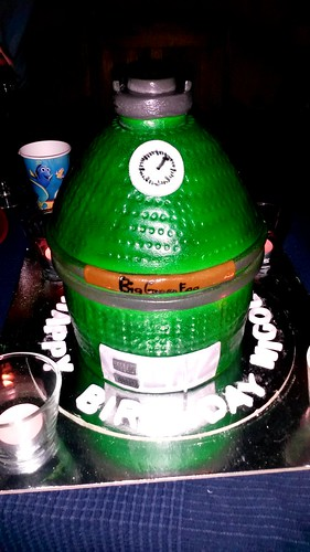 Big green egg cake for my birthday!