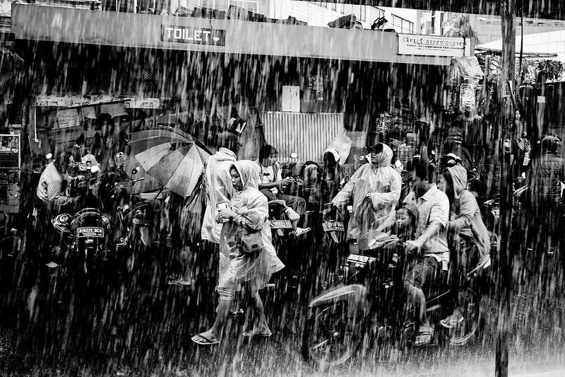 Sudden rain, Jakarta