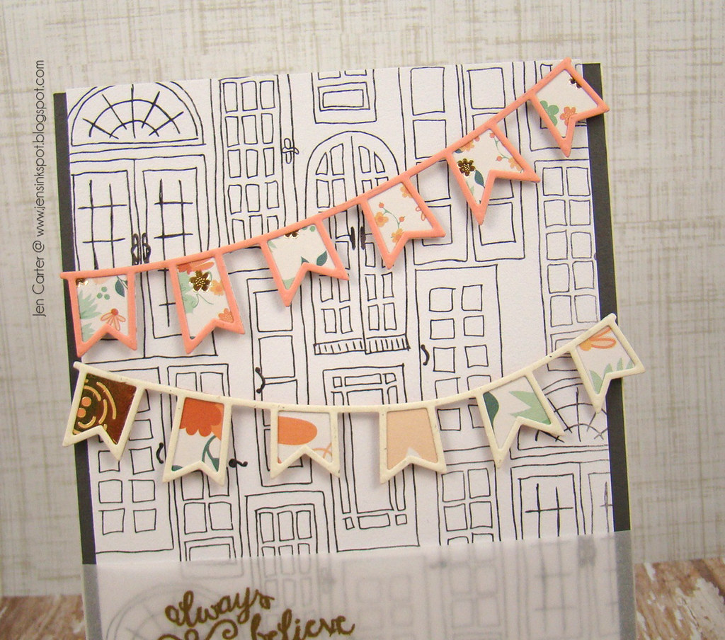 Jen Carter Reverse Confetti Always Believe Banners Closeup Top