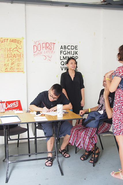 Craft Varies Calligraphy. Singapore Design Week 2015 - Design Trails 2015 - 195 Pearl's Hill Terrace