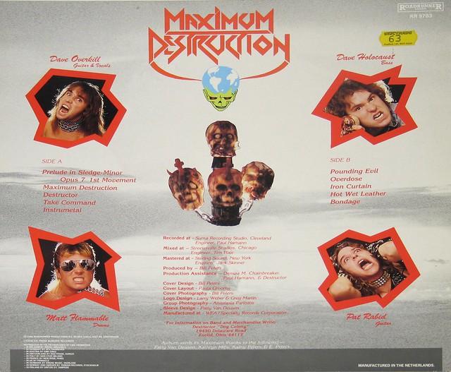 """Destructor Maximum Destruction 12"""" Vinyl LP"""