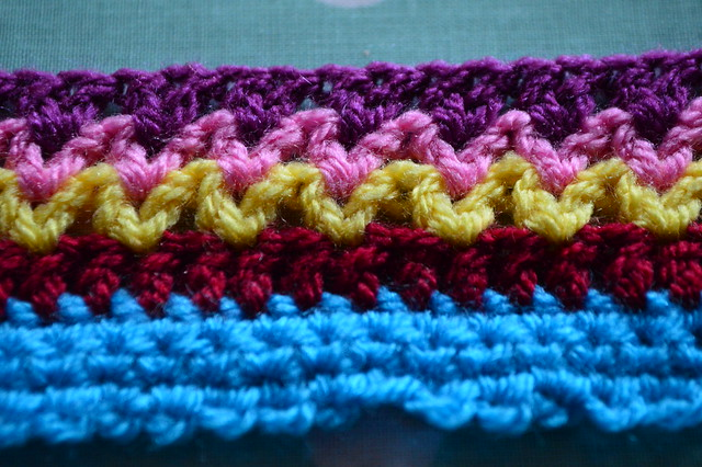 Treble crochet row 5