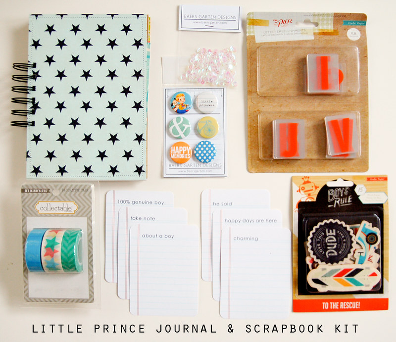 Little Prince Journal and Scrapbook Kit