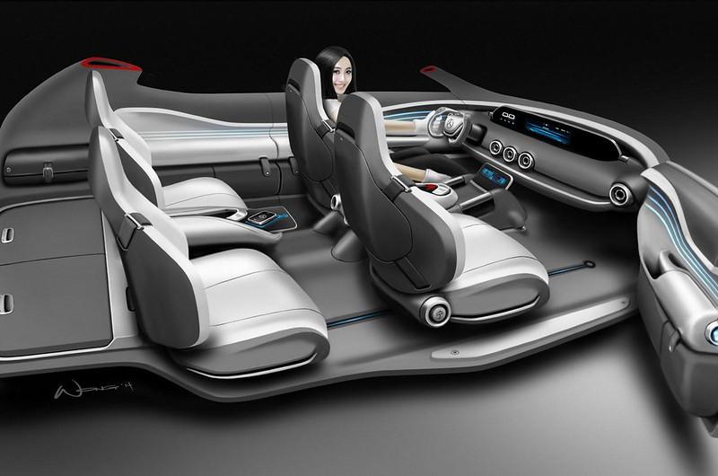 Дизайн интерьера Mercedes-Benz G-Code