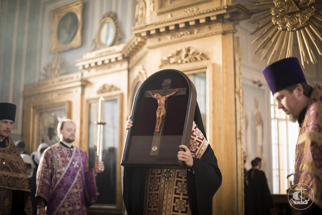 14 марта 2015, Всенощное бдение накануне Крестопоклонной Недели Великого поста / 14 March 2015, Vigil on the eve of the Third of Great Lent. Adoration of the Holy Cross
