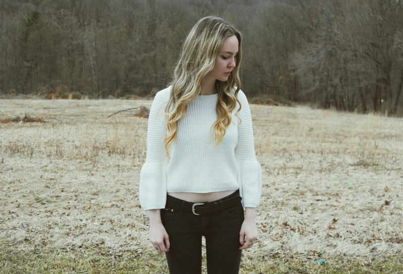 WhiteBellSleeveSweater_DBrandBlackRippedJeans