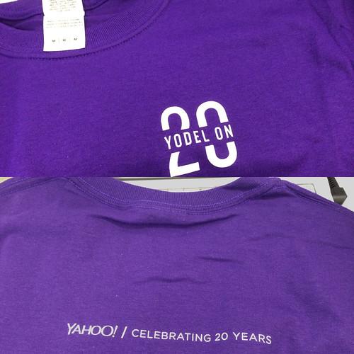 Yahoo! Inc. 20周年Tシャツ!