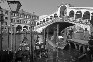 Venice - Gondola ride Rialto bridge