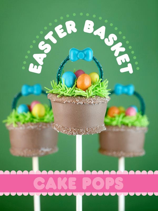 Easter basket cake pops bakerella easter basket cake pops negle Images
