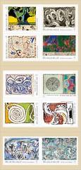 13 ALECHINSKY carnet timbres