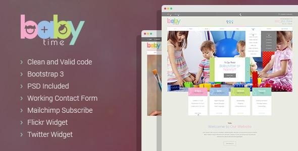 BabyTime - Babysitter, Nurse and Preschool Education HTML Template