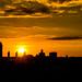 Memorial Day sunset over Albany, NY by gdajewski