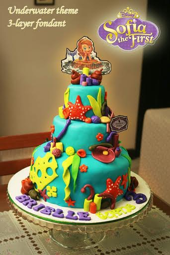 Sofia the First Underwater Theme Cake by Candice Ocampo