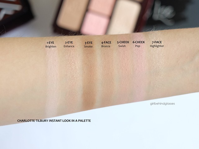 Charlotte Tilbury Instant Look in a Palette swatches