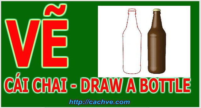 Dạy em vẽ cái chai | Learn to draw a Bottle  for Children