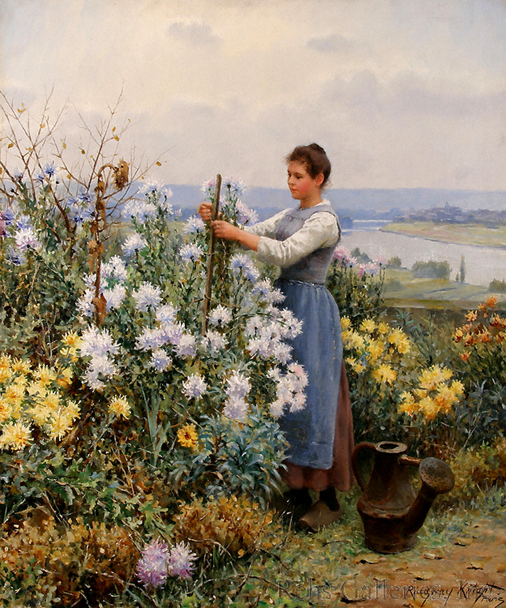 Chrysanthemums by Daniel Ridgway Knight, 1898