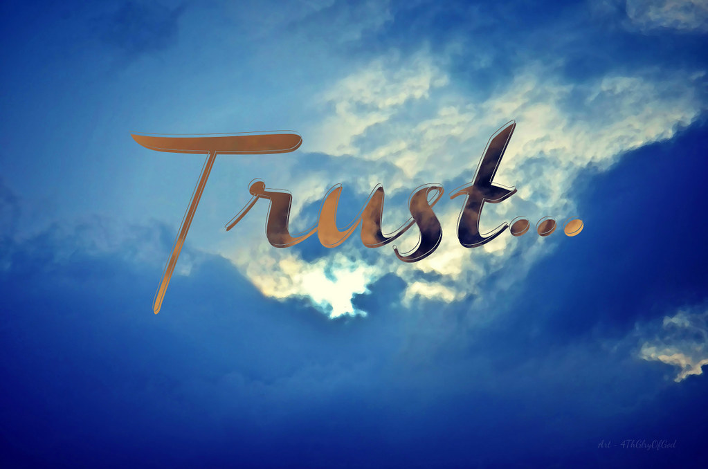 """Trust in the LORD..."" ~ digital paint effect"