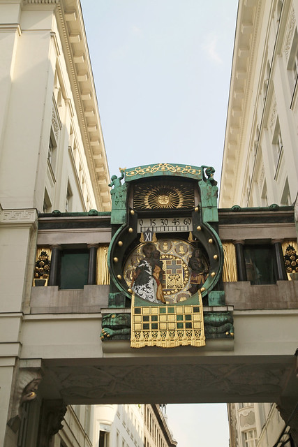Anchor Clock (Ankeruhr) It's an art Nouveau built in 1911 to 1917. The clock is decorated with mosaic designs and ornaments.