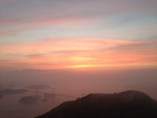 しまなみ海道の夕焼け