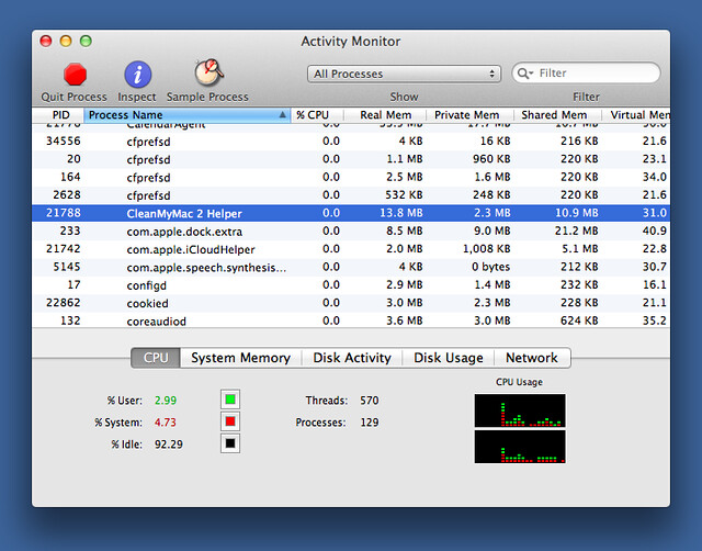 Activity Monitor with CMM2 Helper
