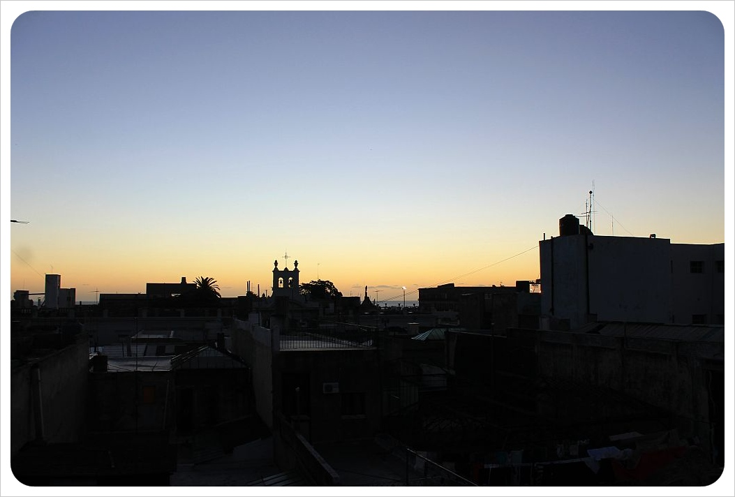 posada al sur montevideo sunset from rooftop