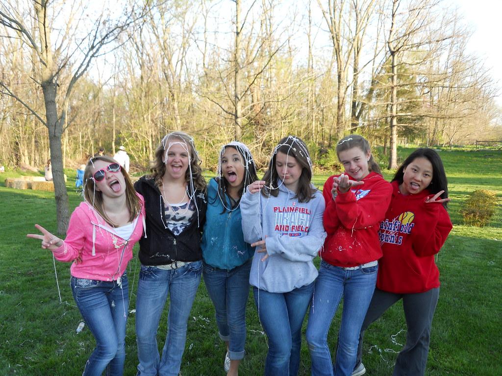 Silly string girls!!