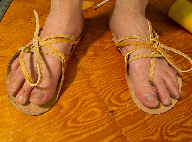 Make Your Own Shoes Leather Sandals Strayfoto