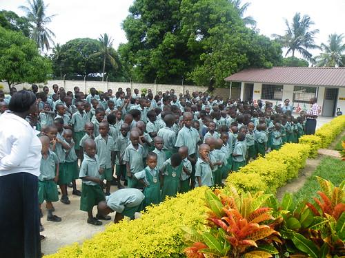 Mr Paul addresses the pupils