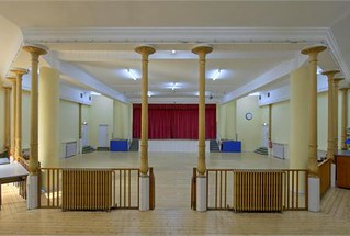The downstairs hall of the St Stephens Centre. Photo: property particulars.