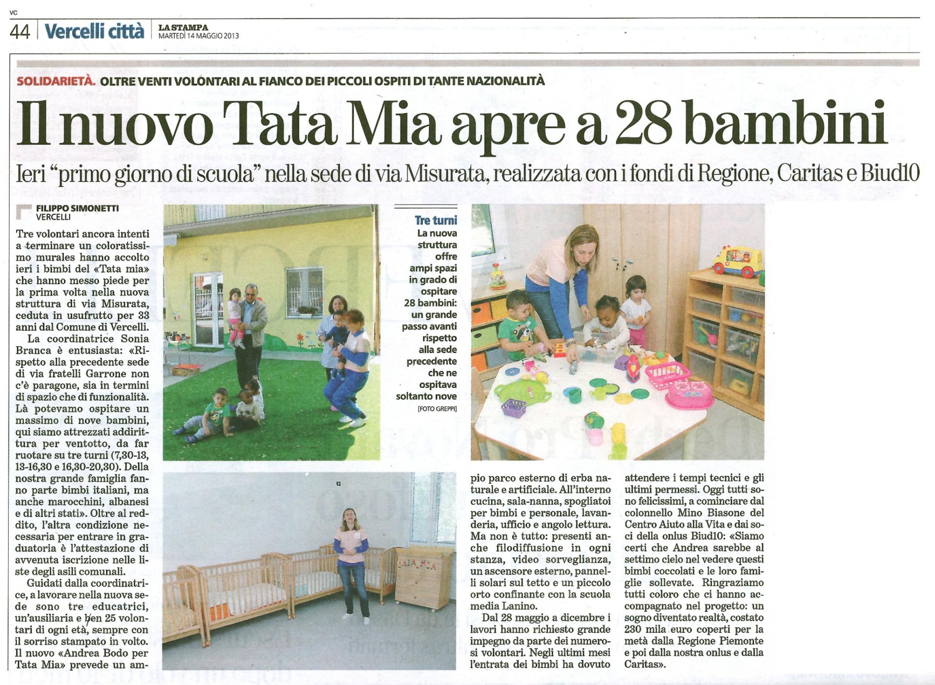 Il nuovo Tatamia apre a 28 bambini