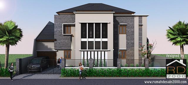 model rumah mewah tampak depan