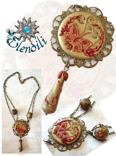 Gargantilla Vintage de Fimo by **Elendili**