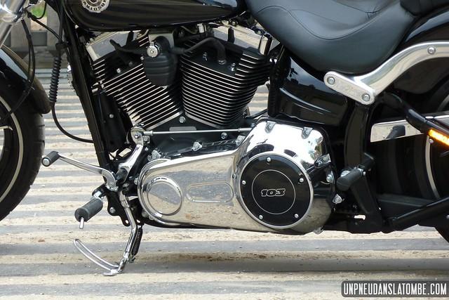 Le moteur de la nouvelle Harley-Davidson Softail Breakout.