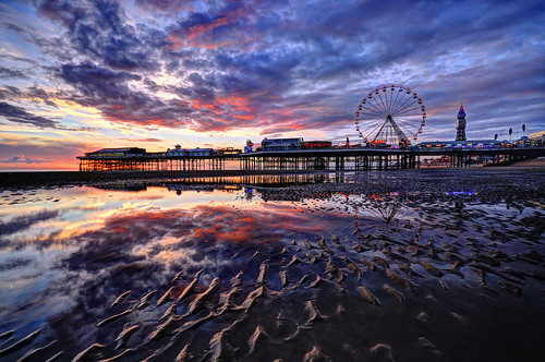 Blackpool Beach Sunset