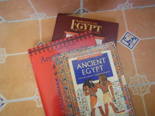 Libros sobre los antigüos Egipcios