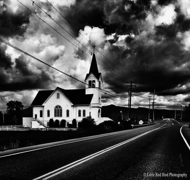 M4H 20/52 Black & White (Little Country Church)