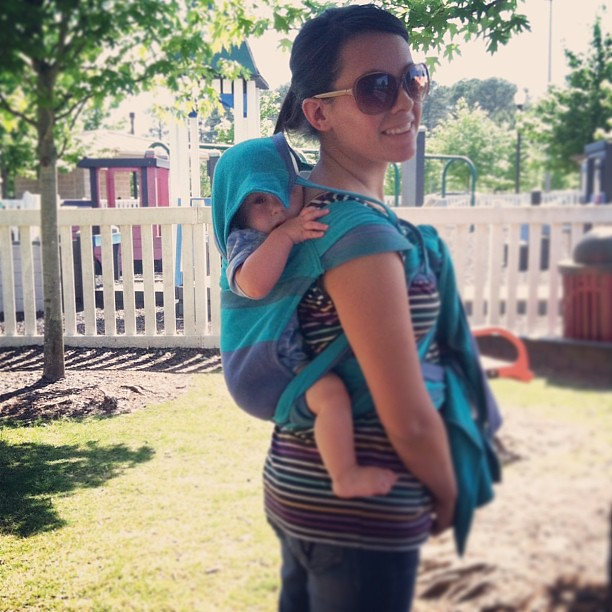 Wrap #meitaiconversion day :) #babywearing #kidstock