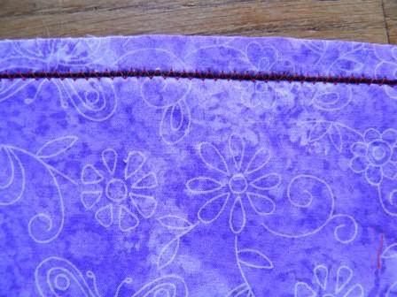 ZigZag over pearl cotton closeup