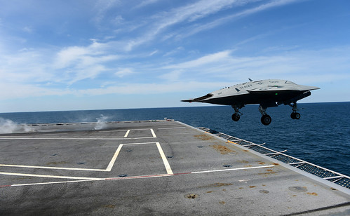 X-47B launches from USS George H.W. Bush