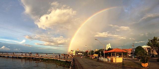 Arco íris em Santarém. Foto: Ronaldo Silva. Olhar do leitor