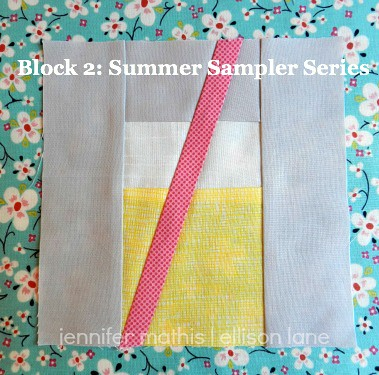 Lemonade Cup- Block 2 in the Summer Sampler Sew Along at Ellison Lane