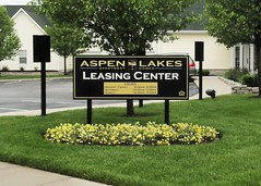 Aspen Lakes Leasing Center Sign