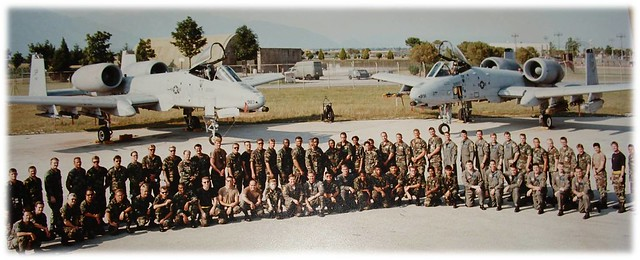 A group photo of the 81st Fighter Squadron at Aviano AB, Italy, Operation Deny Flight 1994