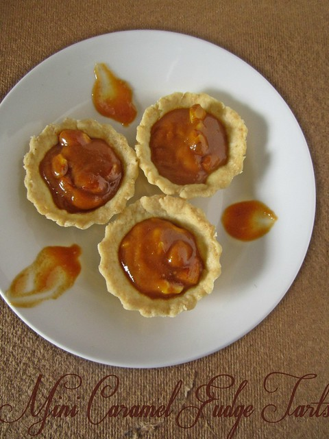 Mini Caramel Fudge Tarts