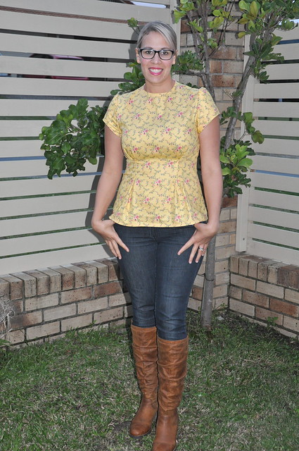 Mustard Flared Blouse