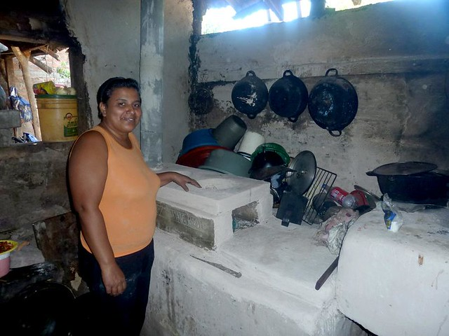 Proud of new fuel-efficient cookstove!