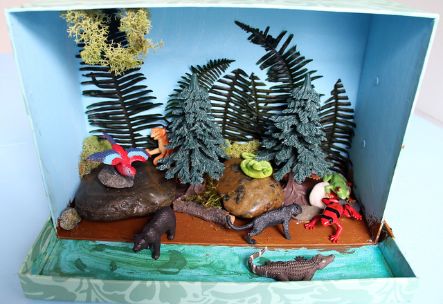 Jungle Diorama - Wyatt's completed
