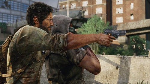 The Last of Us for PS3 - joel with human shield